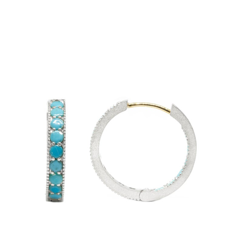 The Gemma re-define glamorous and designed to stand out, but they're not going to bump into your face! Our collectors really love these silver hoop earrings because they're richly detailed with intricate milgrain edges, and nice and thick for