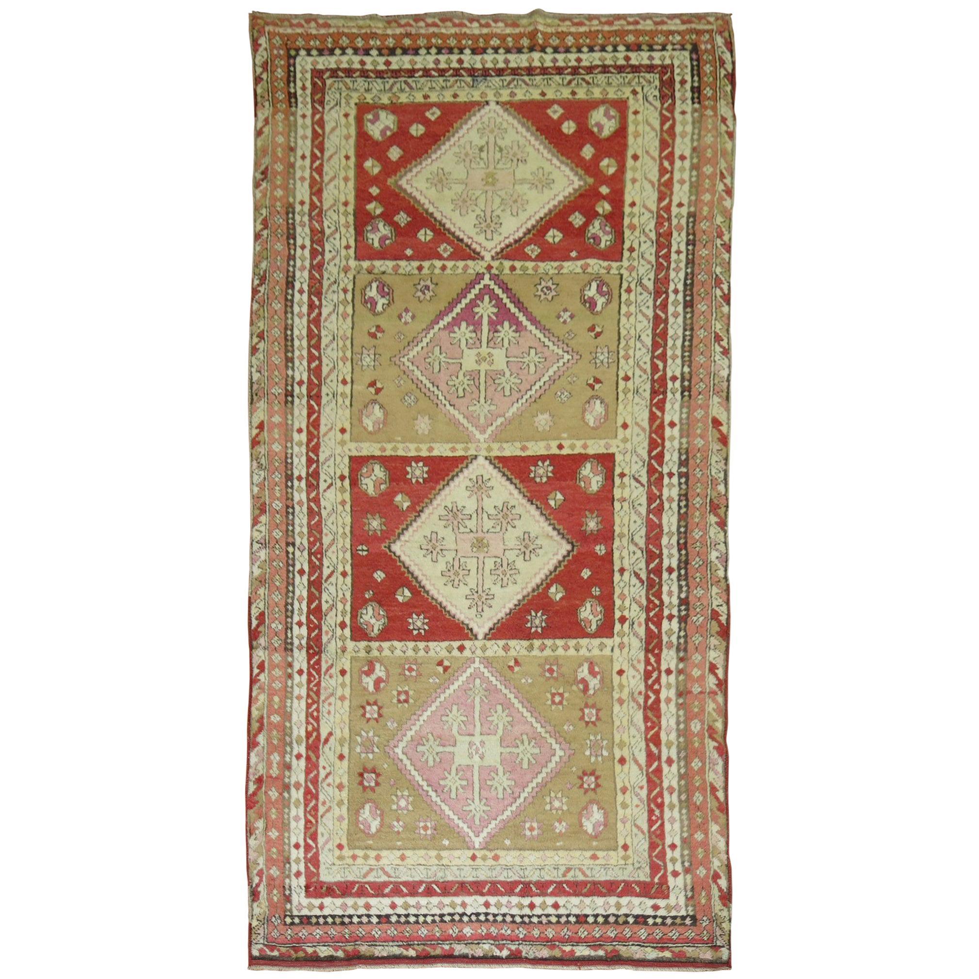 Intricate Antique Turkish Sivas Rug