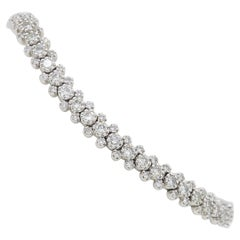Intricate Diamond Bracelet in 18 Karat White Gold