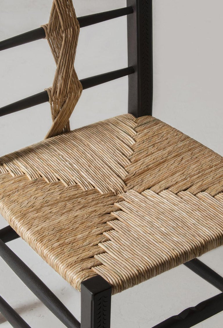 Caning Intricately Carved and Handwoven Fireside