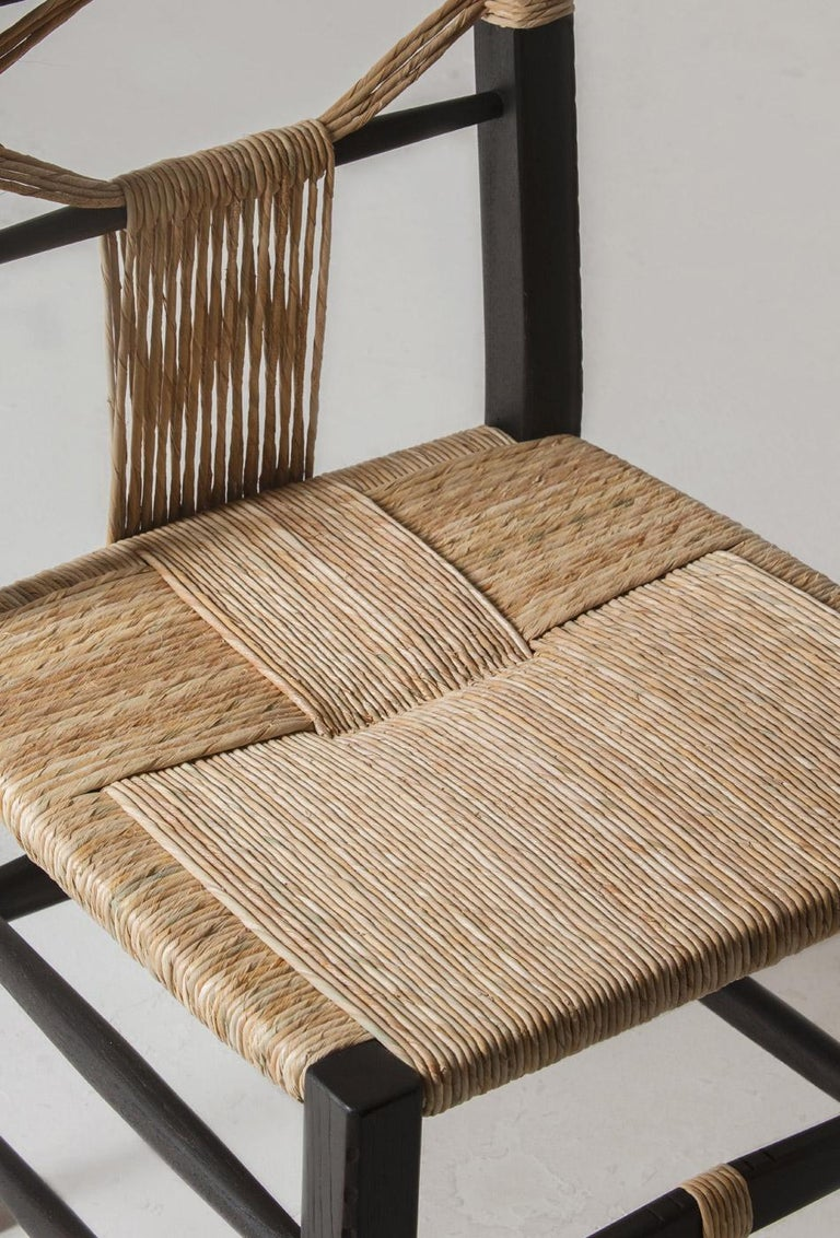 Caning Intricately Carved and Hand Woven Fireside