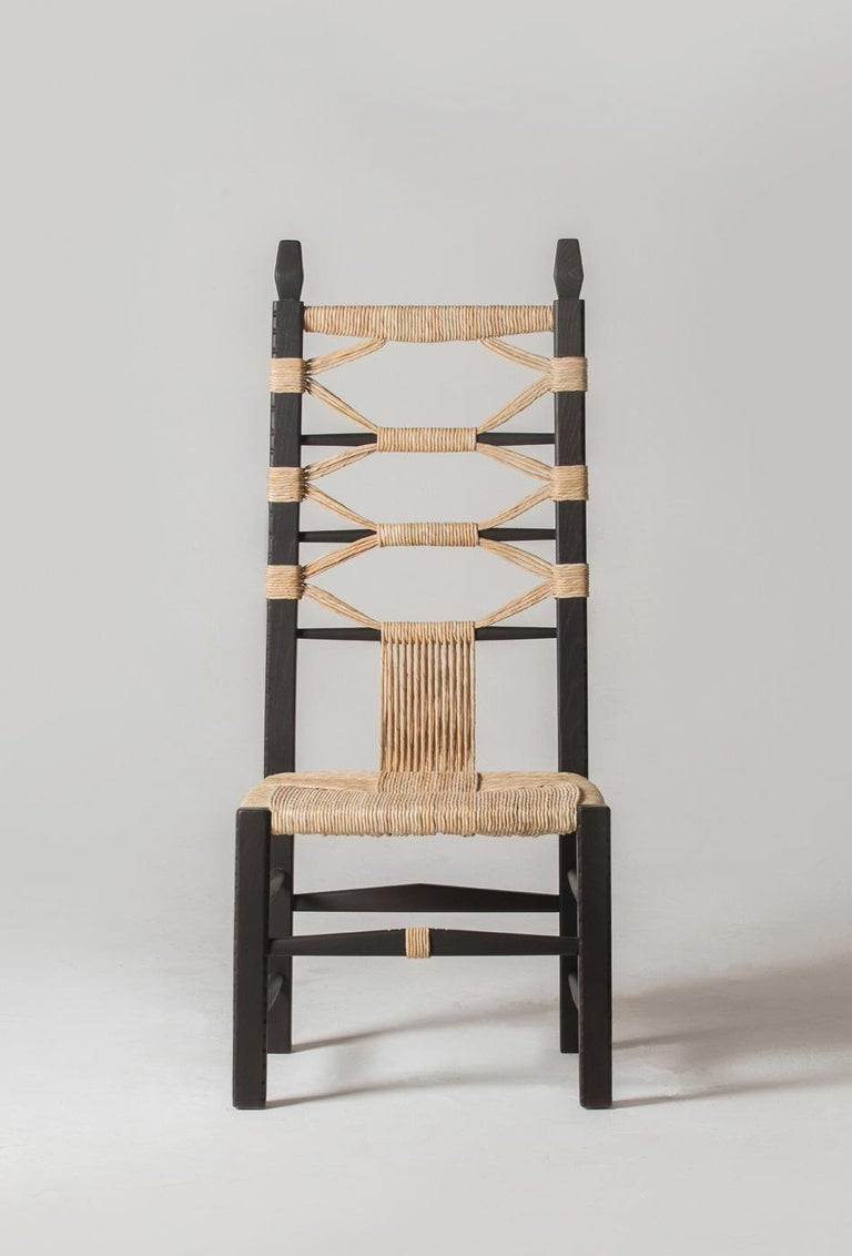 In every rural Sardinian home there are a few wooden, caned chairs that sit in a corner. They are pulled out when visitors come over, when the fire is lit, when it is time to sit in a circle and shell fava beans or crack open almonds. They come in