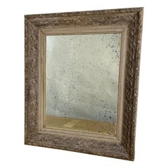Intricately-Carved Antique Belgian Oak Frame with New Mirror