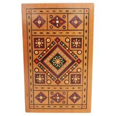 Intricately Inlaid Dovetailed Craftsman Built Lidded Dresser Box