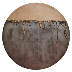 Intrusive Formation Sculptural Wall Hanging in Bronze by Gregory Nangle