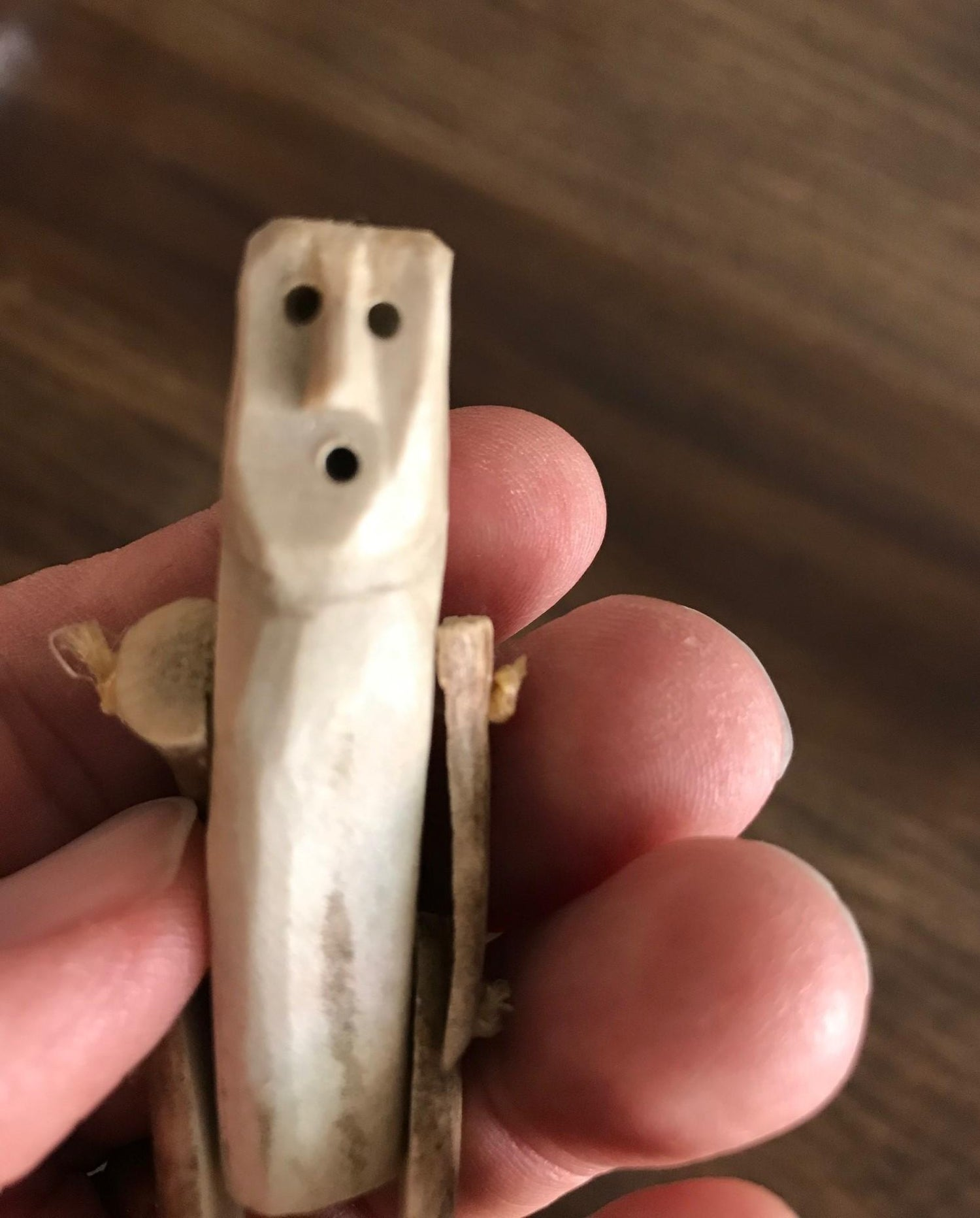Inuit Arctic Region Folk Art Bone Hand Carved Doll Puppet Child S Toy At 1stdibs