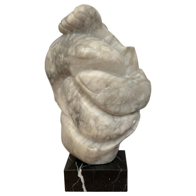 Inuit Salmon Sculpture For Sale