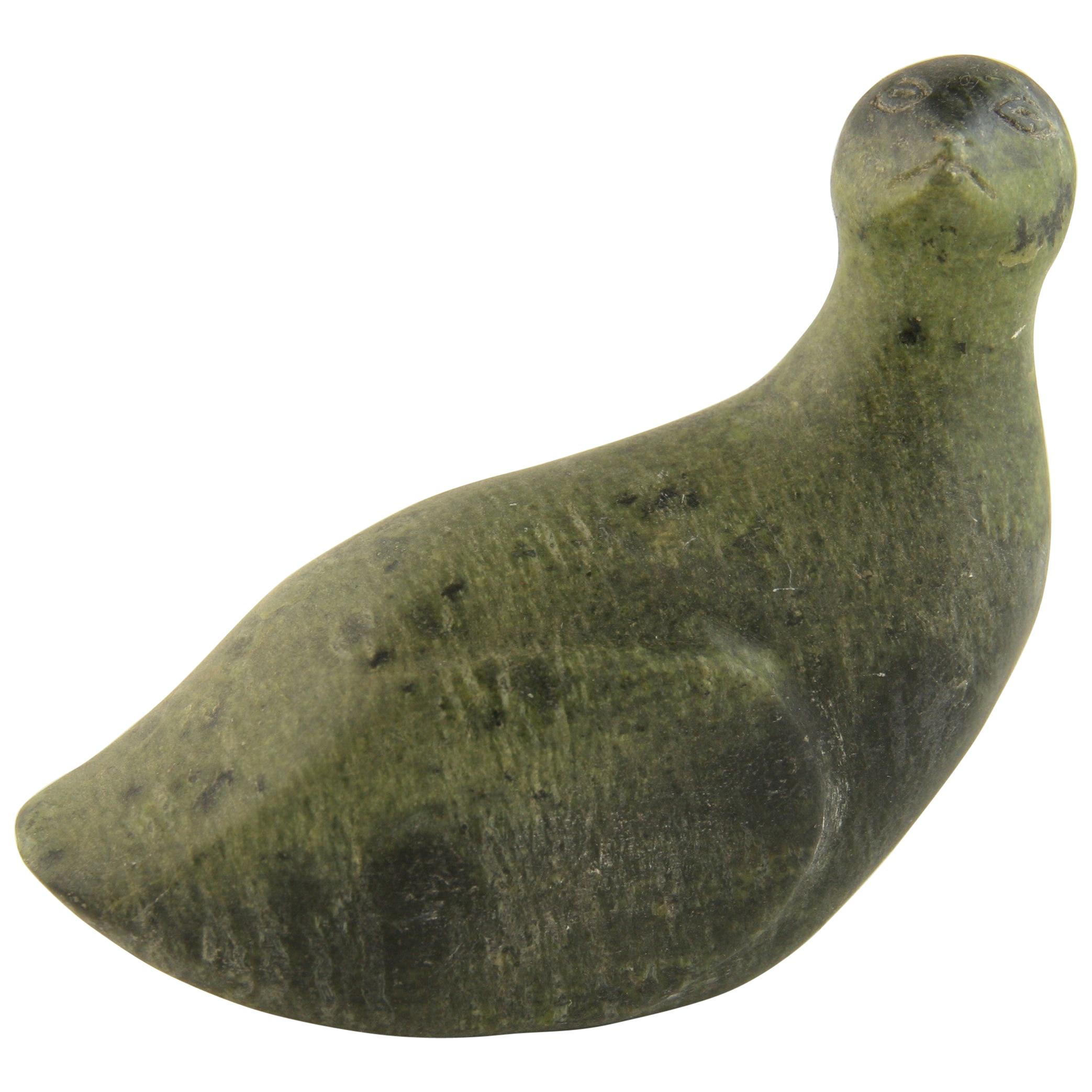 Inuit Soapstone Carved Native American Bird