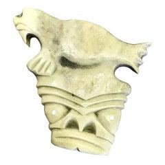Inuit Tupilak Alaska Native American Eskimo Bone Carved Totem with Walrus