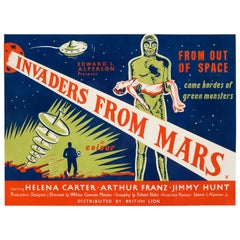 """Invaders From Mars"" Original Vintage Movie Poster, British, 1954"