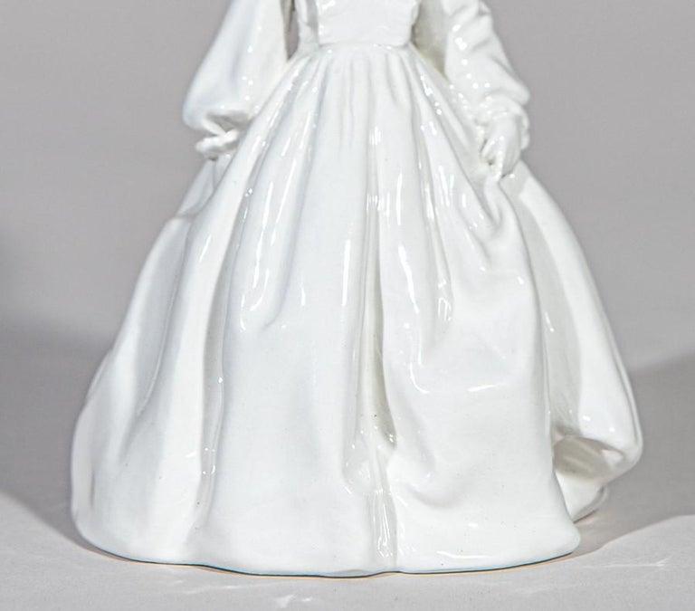 Romantic Invasata by Andrea Salvatori, White Ceramic Sculpture Italy Contemporary For Sale