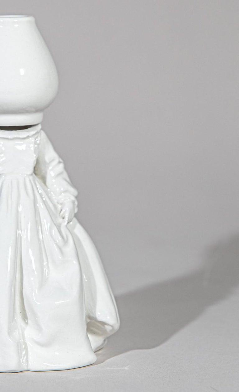Italian Invasata by Andrea Salvatori, White Ceramic Sculpture Italy Contemporary For Sale