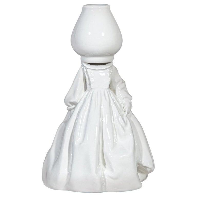 Invasata by Andrea Salvatori, White Ceramic Sculpture Italy Contemporary For Sale
