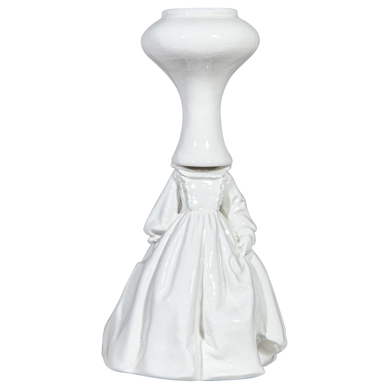 Invasata by Andrea Salvatori, White Ceramic Sculpture, Italy, Contemporary