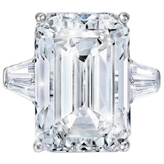 GIA Certified 10.50 Carat Emerald Cut Diamond VVS1 Clarity D Color Triple Ex
