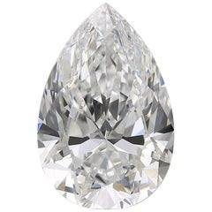 Flawless D Color GIA Certified 10.90 Pear Cut Diamond Ring