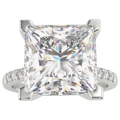 GIA 4.50 Carat Princess Cut Diamond Platinum Ring