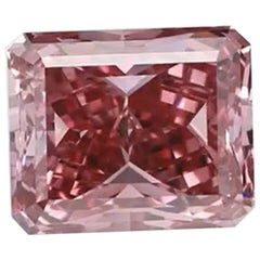 GIA Certified Fancy Vivid Pink Radiant Diamond