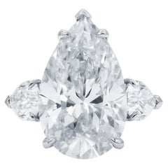 Investment Grade GIA Flawless D Color 10.52 Carat Pear Cut Diamond