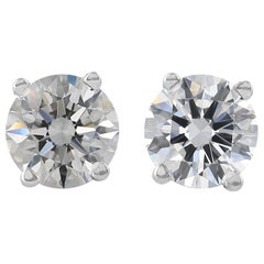Internally Flawless D Color GIA 3 Carat Round Diamond Studs