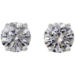 Internally Flawless GIA Certified 2.58 Ct Round Diamond Studs