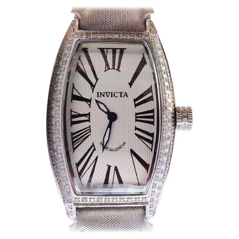 Invicta Diamond and Sapphire crystal Rare Piece For Sale