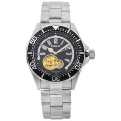 Invicta Pro Diver Black Arabic Dial Steel Openworked Automatic Men's Watch 3434