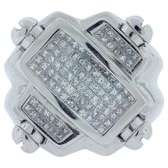 Invisible Diamond Princess Ring Unisex Weight of 3.50 Carat Band