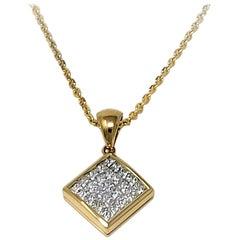 Invisible Set Diamond Necklace
