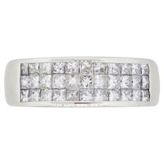 Invisible Set Princess Cut Diamond Band