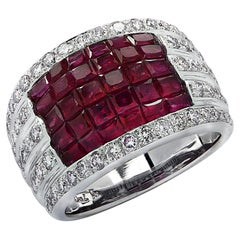 Invisible Set Ruby & Diamond Ring