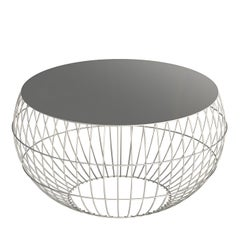 IO 50 Oyster White Outdoor Side Table