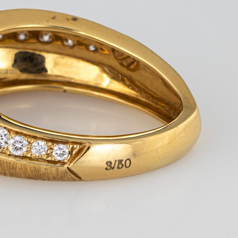 Io Si Diamond Pointed Band 1.24 Carat Limited Edition 3/50 18 Karat Gold Estate For Sale 1