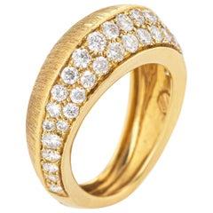 Io Si Diamond Pointed Band 1.24 Carat Limited Edition 3/50 18 Karat Gold Estate