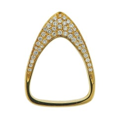Io Si Gold Diamond Peak Ring