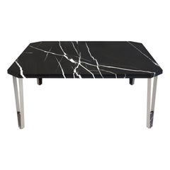 Ionic Square Coffee Table, Nero Marquina, Insidherland by Joana Santos Barbosa