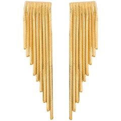 Iosselliani 18 Karat Gold Dangling Drop Earrings