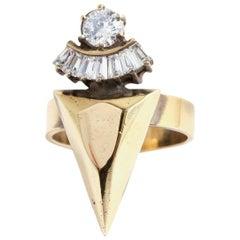 Iosselliani Crystal Spiked Ring