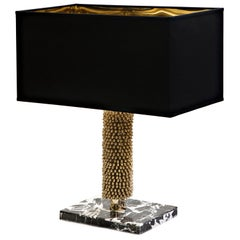 Brass Marble Table Lamp from Iosselliani Design Circus Collection