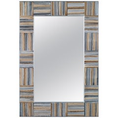 Ipanema Mirror in Natural Glass by CuratedKravet