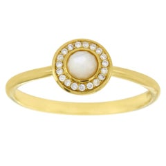 Ippolita 18 Karat Gold Lollipop Mini Mother-of-Pearl and Diamond Ring