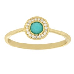 Ippolita 18 Karat Gold Lollipop Mini Turquoise and Diamond Ring