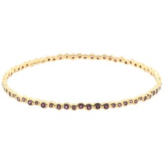 Ippolita 18 Karat Yellow Gold Amethyst Bangle