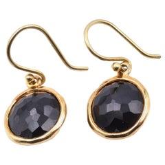Ippolita 18 Karat Yellow Gold Black Onyx Dangle Earrings