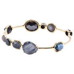 Ippolita 18 Karat Yellow Gold Multi Gemstone Rock Candy Bangle Bracelet