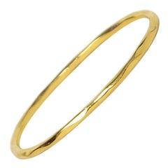 "Ippolita 18k Gold Classico Faceted Bangle Bracelet 7.5"" sz 2"
