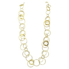 Ippolita 18k Yellow Gold Hammered Ring Necklace