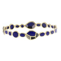 Ippolita 18 Karat Yellow Gold Rock Candy Lapis Bangle Bracelet