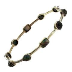 Ippolita Black Rock Candy Multi-Gem Stone Silver Mixed Hinge Bracelet