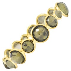 Ippolita Citrine Pyrite 18 Karat Gold Lollipop Bangle Bracelet